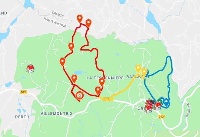 Cartes et randonnées pédestres à Cheissoux